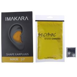 Formbar formad 60st / uppsättning PU Anti-noise Noise Reduction Sleep A Yellow