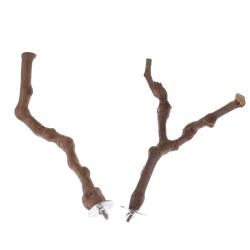 Pet Papegoja Bird Standing Stick Wild Grape Wood Pole Perches Bit A