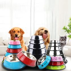 Husdjurstillbehör Rostfritt stål Anti-slip Hundskålar Cat Bowl Puppy A 15cm