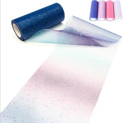 Rainbow Tulle Roll Spool Fabric Ribbon Bolt DIY Table Tutu Skir Light Multicolor