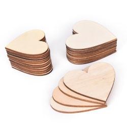 Romnatic 50st / parti färgglada blandade hjärtat träknappar sysöm 60mm