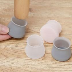 Bordsskydd av silikongummifötter runt stolskåpgolv Gray