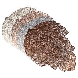 Bordsunderlägg Bordsunderlägg PVC-kopp bladformade mattor ihåliga Silver