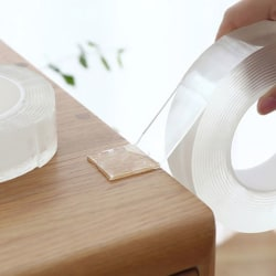 Transparent nano-tejp tvättbar dubbelsidig självhäftande spårning Pas A