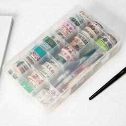 transparent washi tape box stationär förvaringsbox washi tape org onesize