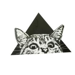 triangel kattmönster patch strykning klistermärken värmeöverföringsjärn onesize