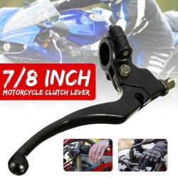 Universal 22 MM 7/8 tums motorcykelcyklar vänster kopplingshandtag Black