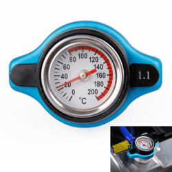 Universal Car Thermost Radiator Cap Cover & Water Temp Gauge Me One Size