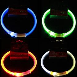 USB LED Uppladdningsbar Hundhalsband Blinkande Ljus Upp Säkerhet Be Multicolor 70CM