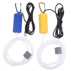 USB Mini Aquarium Filter Oxygen Air Pump för fisketank Aquar Army green