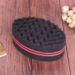 Wave Barber Hair Brush Sponge For Dreads Afro Locs Twist Curl C Red