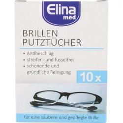 Glasögonservetter / Optiska våtservetter 10-Pack Vit