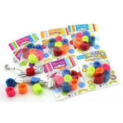 Kabelsamlare / Kabelhållare 6-pack multifärg