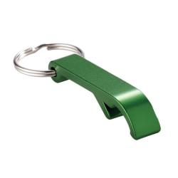 Nyckelring / Nyckelknippa Med Kapsylöppnare (Grön) Grön one size