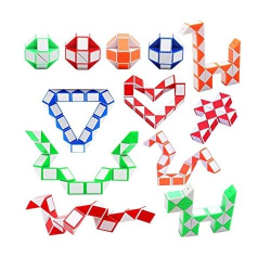 Snake Cube / Snake Twist / Magic Cube (Rosa/Vit) Rosa