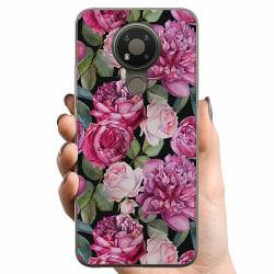 Nokia 3.4 TPU Mobilskal Purple Florals