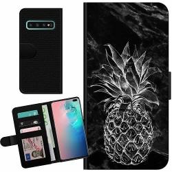 Samsung Galaxy S10 Plus Billigt Fodral Marmor Ananas