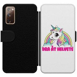 Samsung Galaxy S20 FE Wallet Slim Case Unicorn - Dra Åt @!#