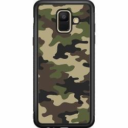 Samsung Galaxy A6 (2018) Soft Case (Svart) Woodland Camo