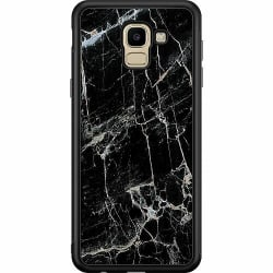 Samsung Galaxy J6 (2018) Soft Case (Svart) Marmor Svart