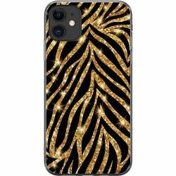 Apple iPhone 11 Mjukt skal - Gold & Glitter
