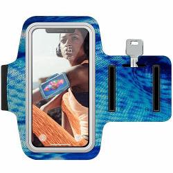 Sony Xperia L Träningsarmband / Sportarmband -  Curved 3D Blues