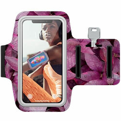 Samsung Galaxy A40 Träningsarmband / Sportarmband -  Pink Shrubs