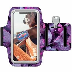 Sony Xperia L2 Träningsarmband / Sportarmband -  Purple Shrubs