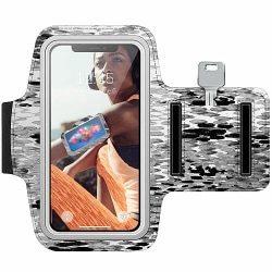 Samsung Galaxy S6 Träningsarmband / Sportarmband -  Snakeskin BW