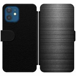Apple iPhone 12 Wallet Slim Case Brushed Metal