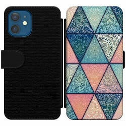 Apple iPhone 12 Wallet Slim Case Mandala triangles
