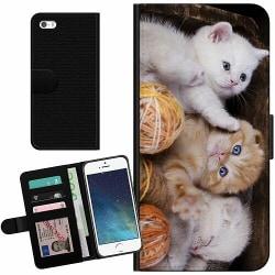 Apple iPhone 5 / 5s / SE Billigt Fodral Katter