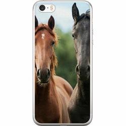 Apple iPhone 5 / 5s / SE Mjukt skal - Häst / Horse