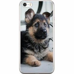 Apple iPhone 5 / 5s / SE Mjukt skal - Schäfer Puppy