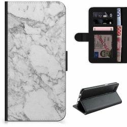 Apple iPhone X / XS Lyxigt Fodral Marmor Vit