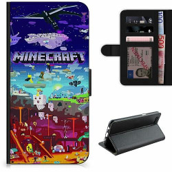 Samsung Galaxy A21s Lyxigt Fodral MineCraft
