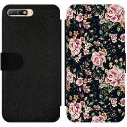 Huawei Y6 (2018) Wallet Slim Case Flowers