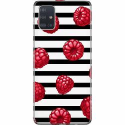 Samsung Galaxy A51 Mjukt skal - Raspberries