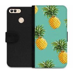 Huawei P Smart (2018) Wallet Case Pineapples Teal