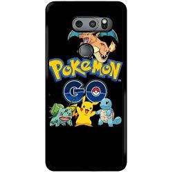 LG V30S ThinQ Soft Case (Svart) Pokemon