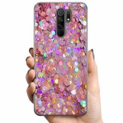 Xiaomi Redmi 9 TPU Mobilskal Glitter