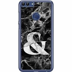 Huawei P Smart (2018) Hard Case (Transparent) Marmor & Svart