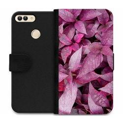 Huawei P Smart (2018) Wallet Case Pink Shrubs