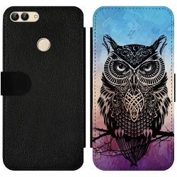 Huawei P Smart (2018) Wallet Slim Case Owl