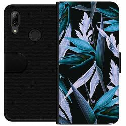 Huawei P Smart (2019) Wallet Case Blue Flower