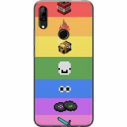 Huawei P Smart Z Mjukt skal - MineCraft Rainbow