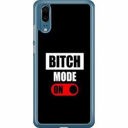 Huawei P20 Hard Case (Transparent) Bitch Mode On