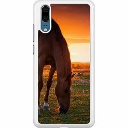 Huawei P20 Hard Case (Vit) Häst / Horse