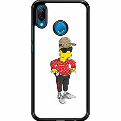 Huawei P20 Lite Hard Case (Svart) Bart Simpsons SUP