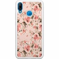 Huawei P20 Lite Soft Case (Vit) Blommor
